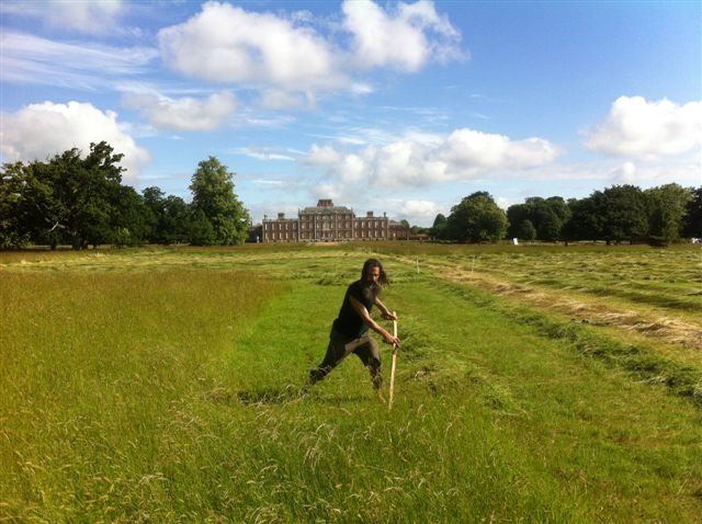 Mowing 1/4 of an acre at Wimpole