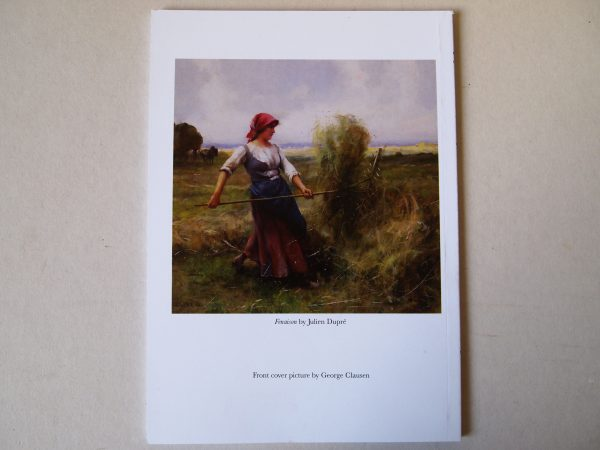 managing grass with a scythe back cover